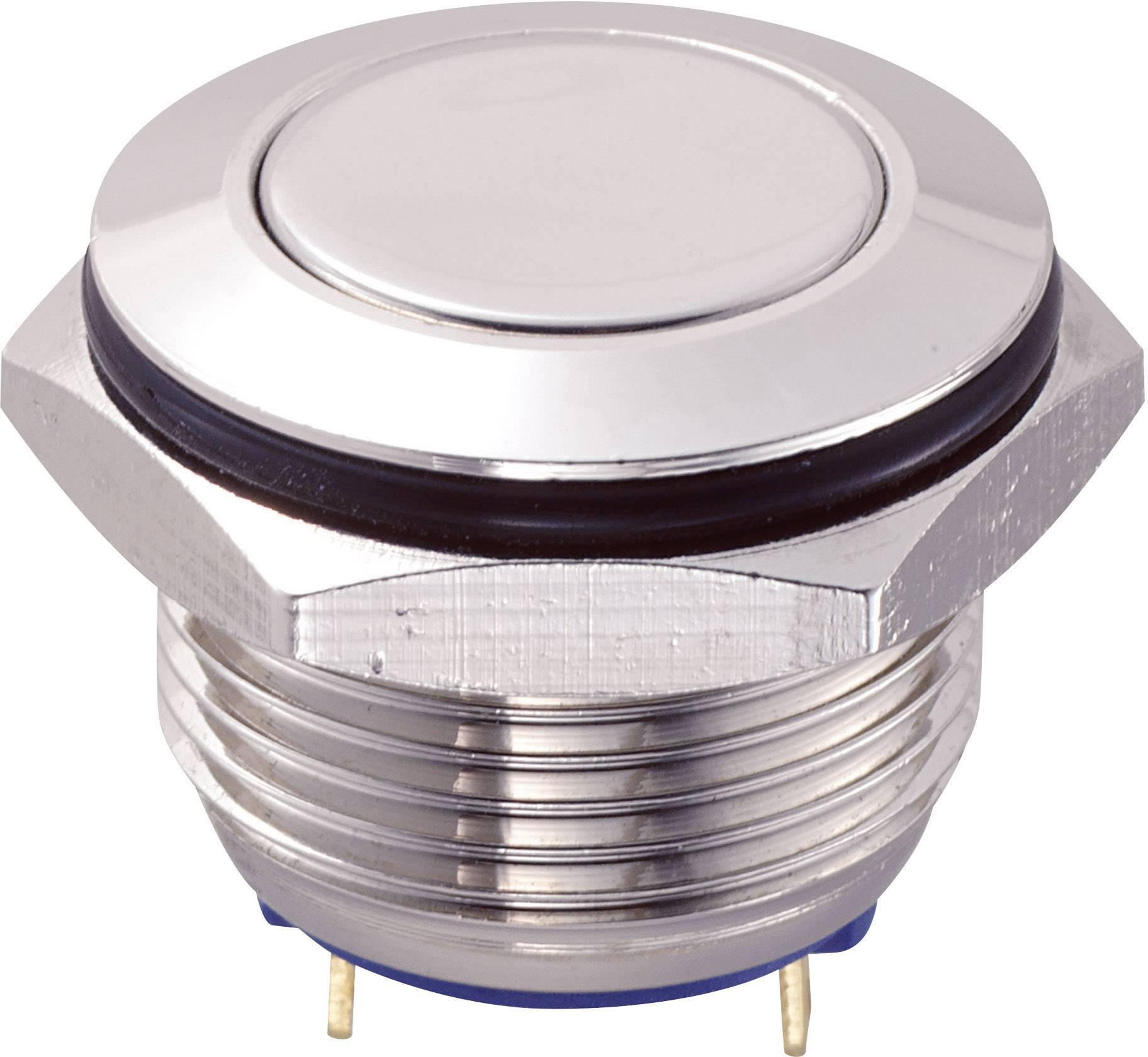 Tlačítko GQ16F-10/J/N (SH1149), 16 mm, 48 V/DC, 2 A, pájené, 1x vyp/(zap)