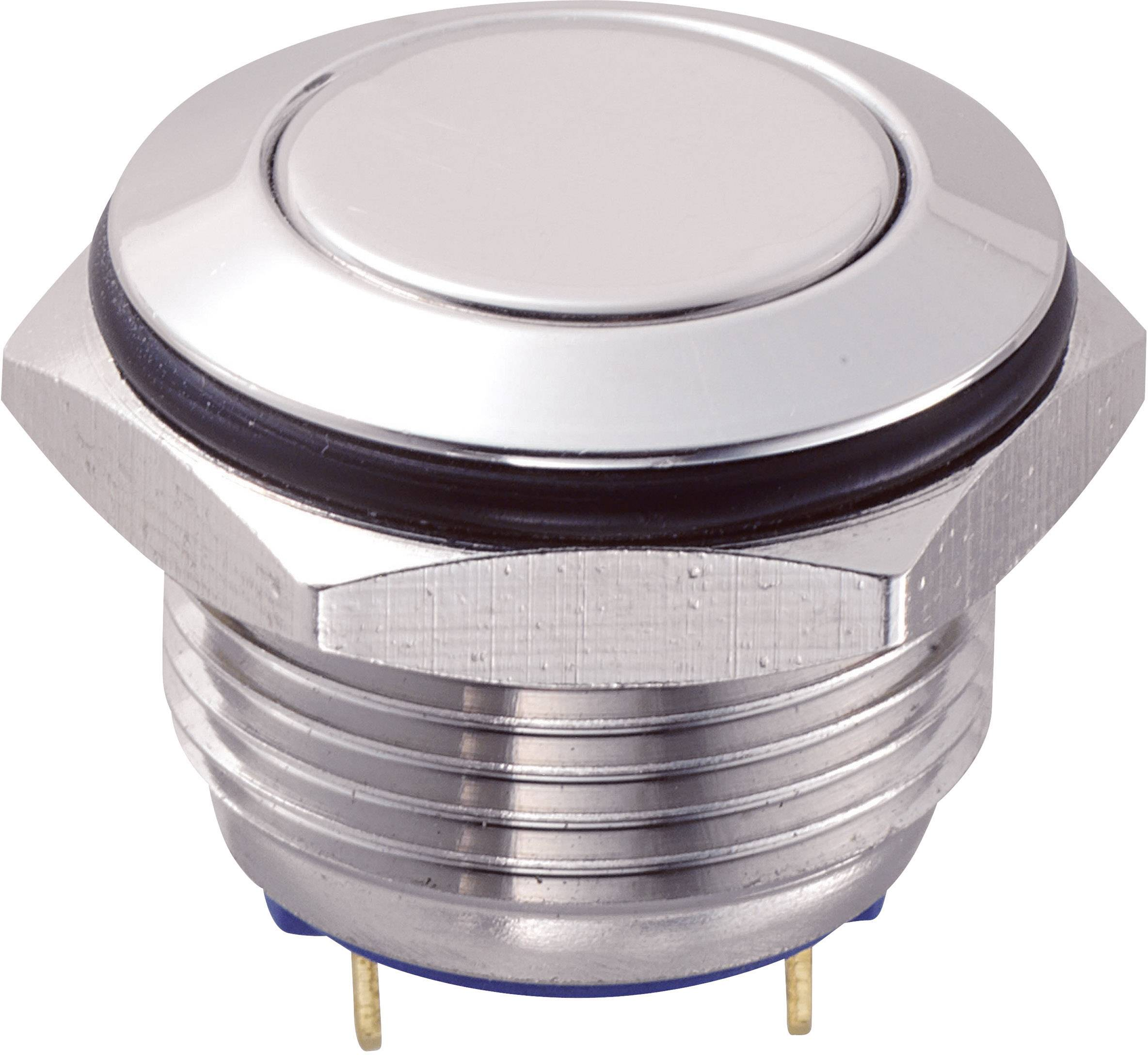 Tlačítko GQ16F-10/J/S (SH1150), 16 mm, 48 V/DC, 2 A, pájené, 1x vyp/(zap)