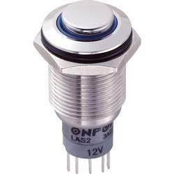 Tlačítkový spínač antivandal TRU COMPONENTS LAS2GQH-11ZE/B/12V/S/P, 250 V/AC, 3 A, nerezová ocel, 1 ks