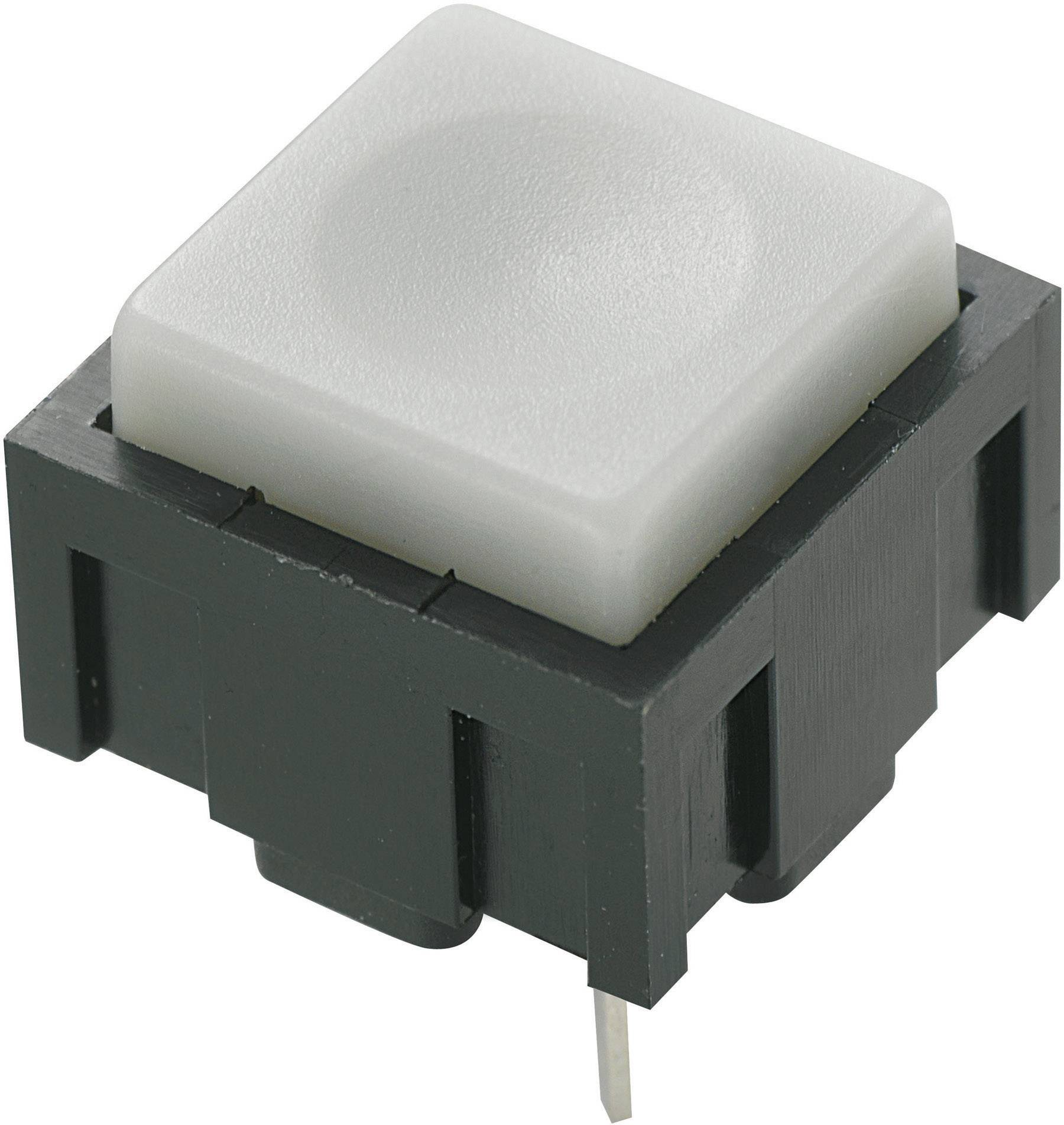 Tlačidlo TRU COMPONENTS PBS-18B, 50 V DC/AC, 0.025 A, sivá, 1 ks