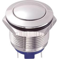 Stláčacie tlačidlo s ochranou pred vandalmi TRU COMPONENTS GQ19B-10/J/S, 48 V/DC, 2 A, nerezová oceľ, 1 ks