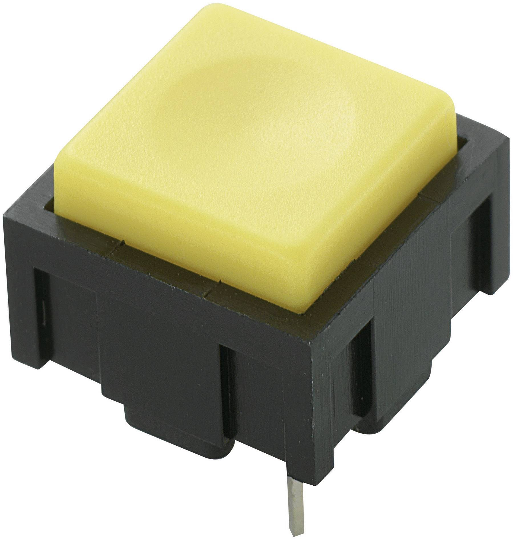 Tlačidlo TRU COMPONENTS PBS-18B, 50 V DC/AC, 0.025 A, žltá, 1 ks