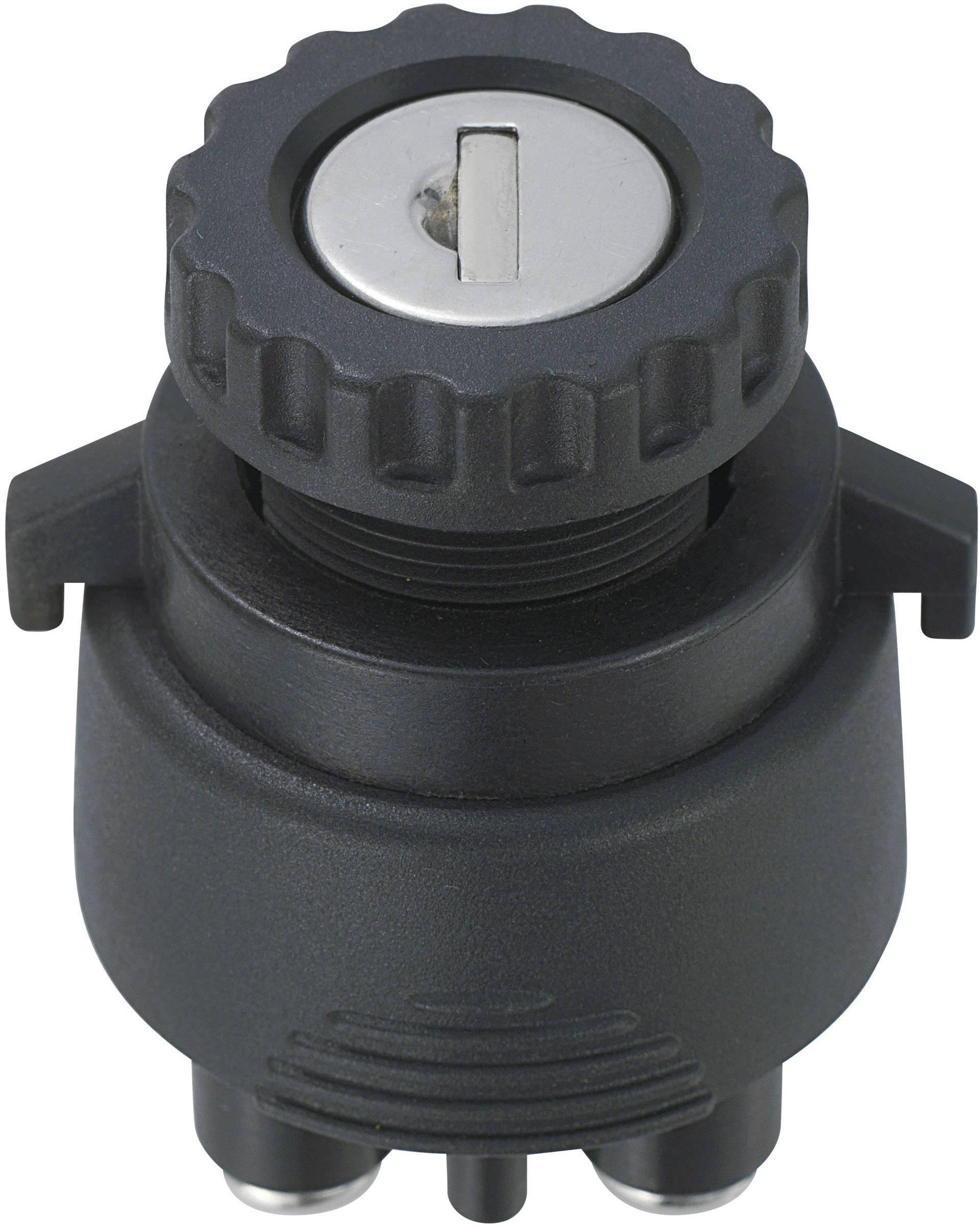 Kľúčový spínač SCI K3-33 701915, 12 V/DC, 15 A, 2x zap/zap, 1 x 30 °, 1 ks