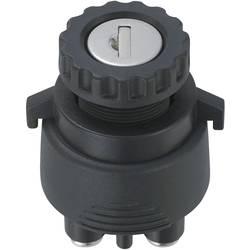 Kľúčový spínač TRU COMPONENTS TC-K3-33 1587963, 12 V/DC, 15 A, 2x zap/zap, 1 x 30 °, 1 ks