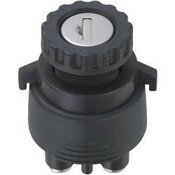 Klíčový spínač TRU COMPONENTS TC-K3-33 1587963, 12 V/DC, 15 A, 2x zap/vyp/zap/(zap), 1 x 30 °, 1 ks