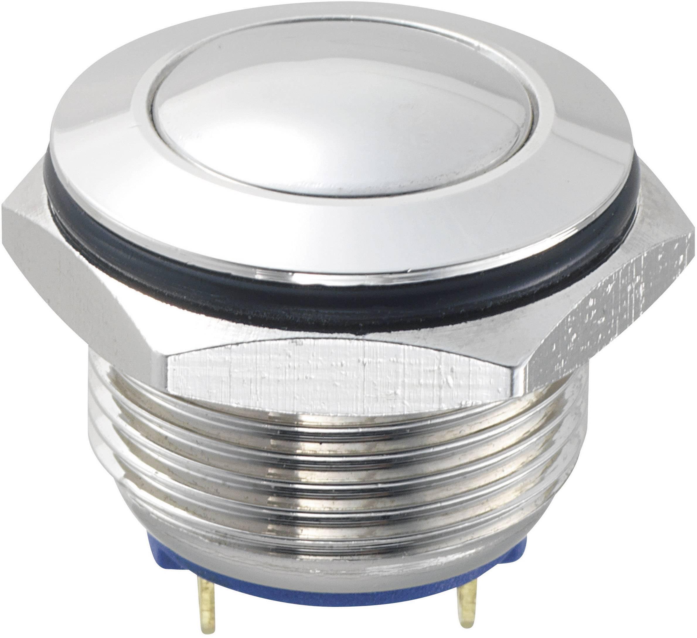 Tlačítko GQ16B-10/J/N (SH1147), 16 mm, 48 V/DC, 2 A, pájené, 1x vyp/(zap)