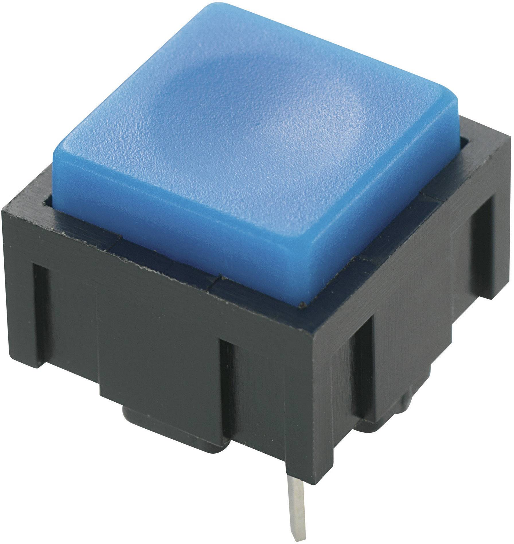 Tlačidlo TRU COMPONENTS PBS-18B, 50 V DC/AC, 0.025 A, modrá, 1 ks