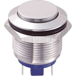 Tlačítko antivandal TRU COMPONENTS GQ19H-10/J/S, 48 V/DC, 2 A, nerezová ocel, 1 ks