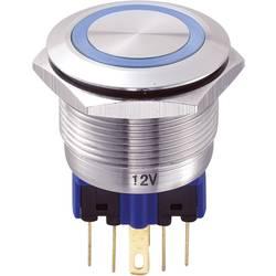 Tlačítko antivandal TRU COMPONENTS GQ22-11E/B/12V, 250 V/AC, 5 A, nerezová ocel, 1 ks