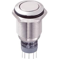 Tlačítkový spínač antivandal TRU COMPONENTS LAS2GQF-22Z/S/P, 250 V/AC, 3 A, nerezová ocel, 1 ks