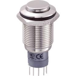 Tlačítkový spínač antivandal TRU COMPONENTS LAS2GQH-11Z/N/P, 250 V/AC, 3 A, niklová, 1 ks