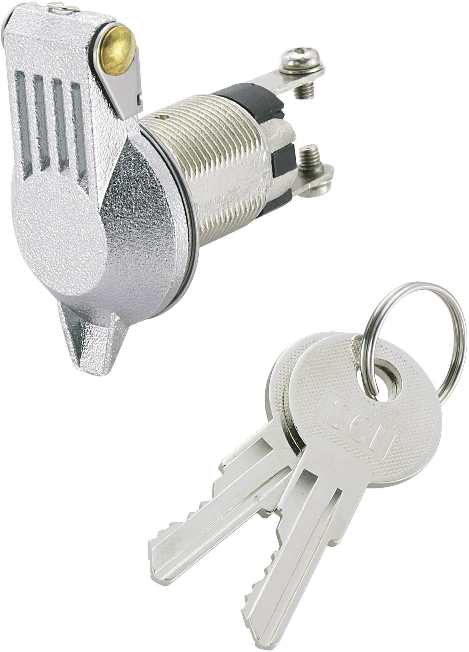 Kľúčový spínač SCI K3-16B-06 701988, 24 V/DC, 10 A, 1x vyp/zap, 1 x 90 °, 1 ks