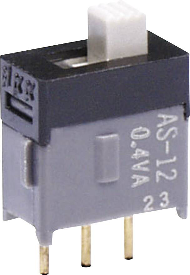 Posuvný prepínač NKK Switches AS12AP, 28 V DC/AC, 0.1 A, 1 zap/zap, 1 ks