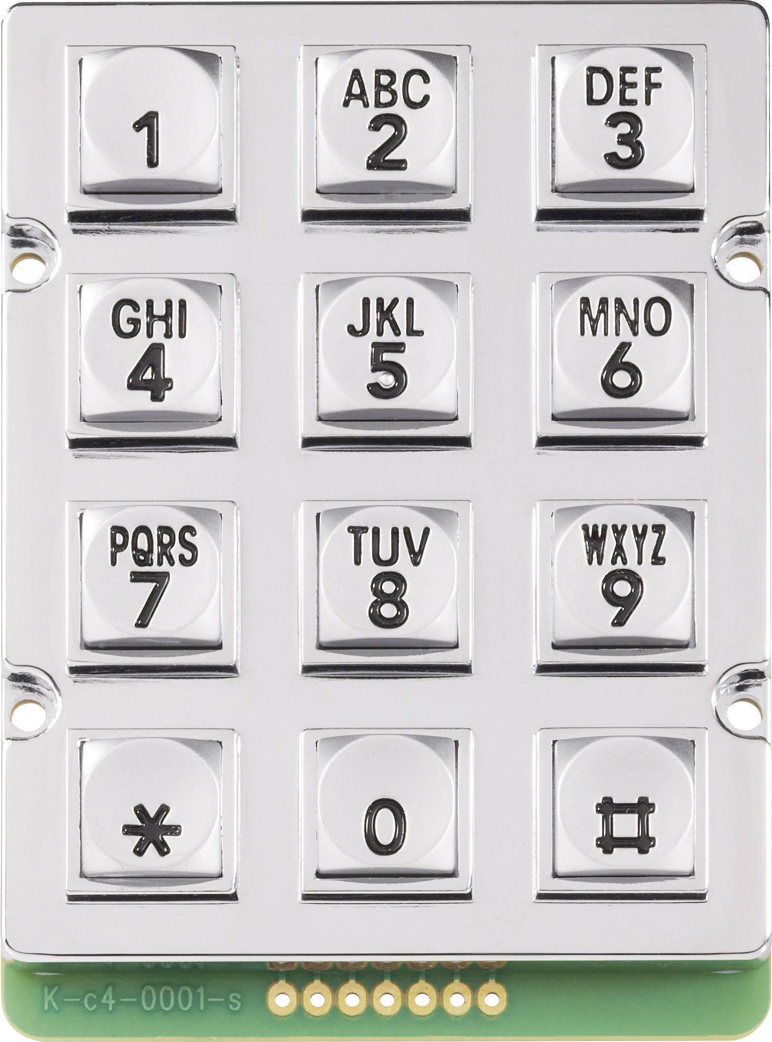 Tlačidlová klávesnica 0031-010A-1P 3 x 4 1 ks