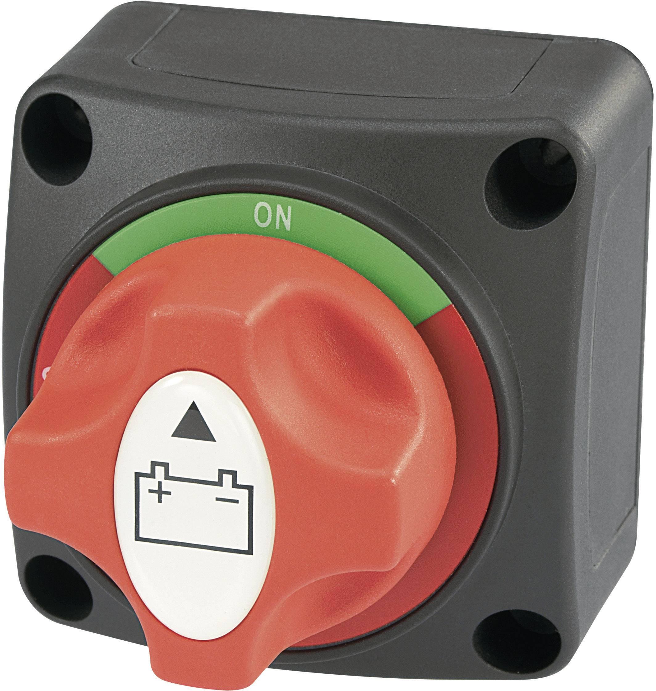Bateriový spínač do auta SCI A23-2, 12 V/DC, 50 V/DC, 200 A, s aretací, IP54, 1 ks