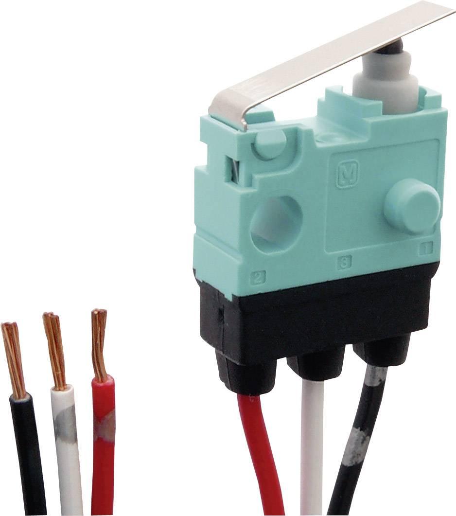 Mikrospínač - rovná kovová páka Panasonic ASQ10617J, 30 V/DC, 0.1 A