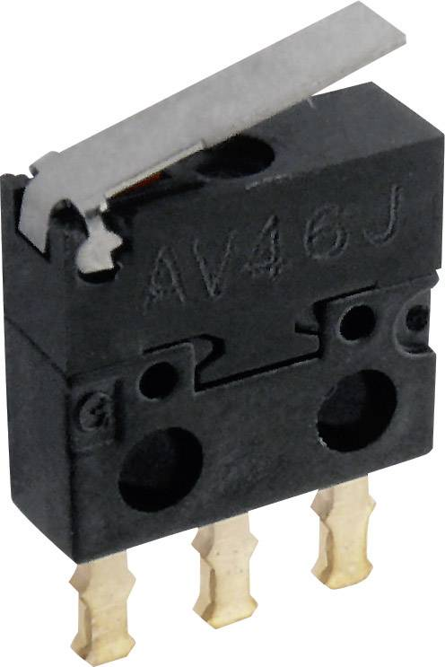 Mikrospínač - rovná kovová páka Panasonic AV402461J, 30 V/DC, 0.5 A, IP40