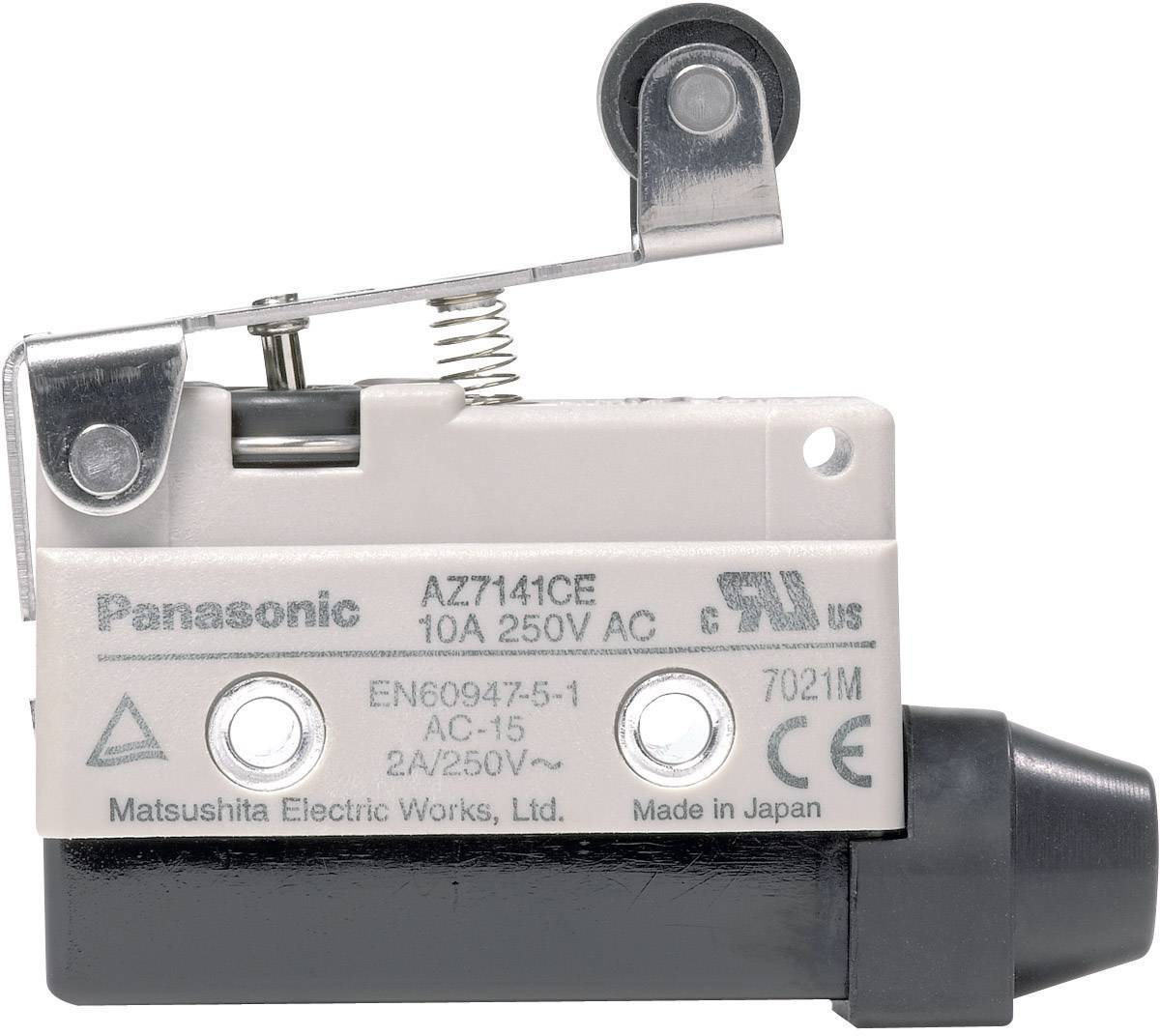 Koncový spínač Panasonic AZ7141CEJ, 115 V/DC, 250 V/AC, 10 A, páka s valčekom, bez aretácie, IP64, 1 ks
