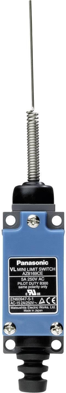 Koncový spínač Panasonic AZ8169CEJ, 115 V/DC, 250 V/AC, 5 A, pružinová tyč, bez aretácie, IP64, 1 ks