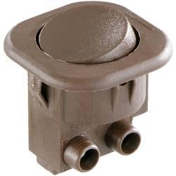 Kolébkový spínač interBär 8014-109.01, 1x vyp/zap, 250 V/AC, 6 A, hnědá