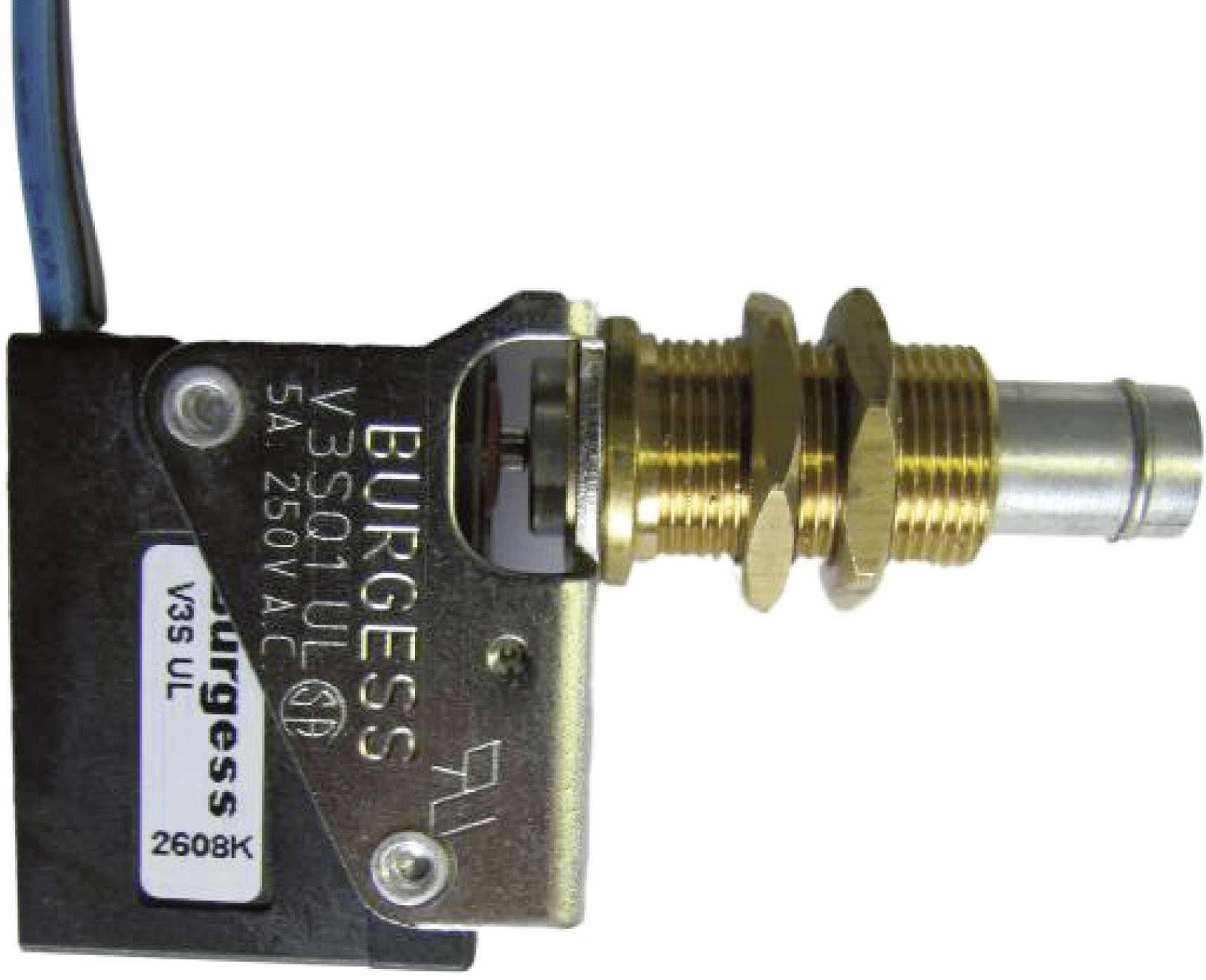 Mikrospínač Burgess V3SQ1UL, 250 V/AC, 5 A, kabel bez kon., 1x zap/(zap)