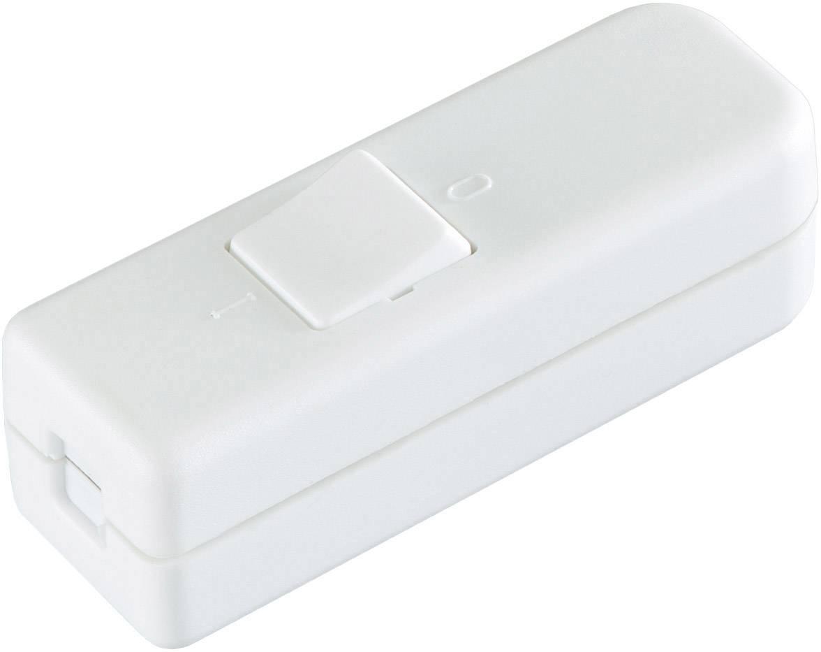 Šnúrový spínač interBär 8006-008.01, 6 A, biela, 1 ks