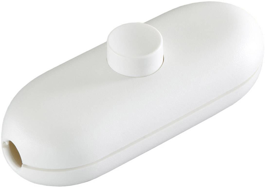 Šnúrový spínač interBär 2 A, biela, 1 ks