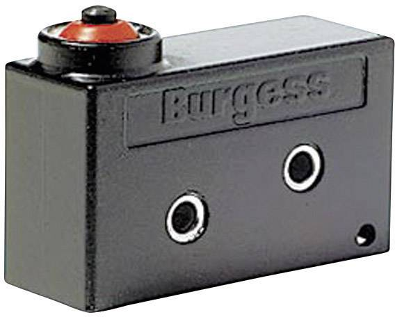 Mikrospínač Burgess V9NH, 250 V/AC, 10 A, kabel bez kon., 1x zap/(zap)