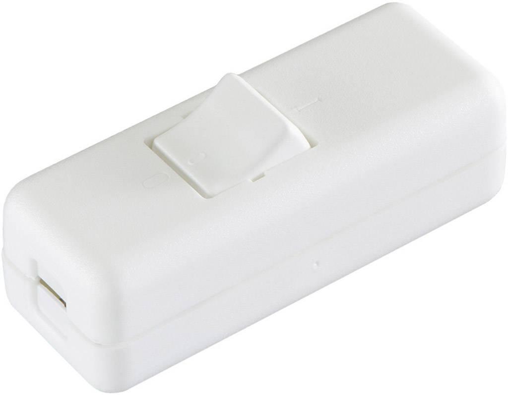 Šňůrový vypínač interBär , 2pólový, 250 V/AC, 10 A, bílá/bílá