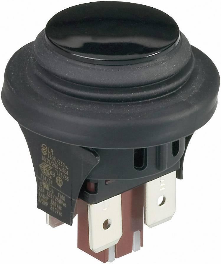 Tlačidlo interBär 3656-001.22, 250 V/AC, 16 A, čierna, 1 ks