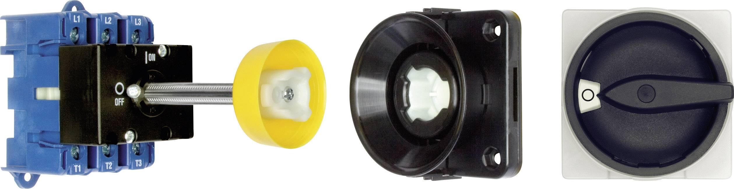 Odpínač s dvernou spojkou Kraus & Naimer KG80 T103/09 VE KG80 T103/09 VE, 80 A, 1 x 90 °, čierna, 1 ks