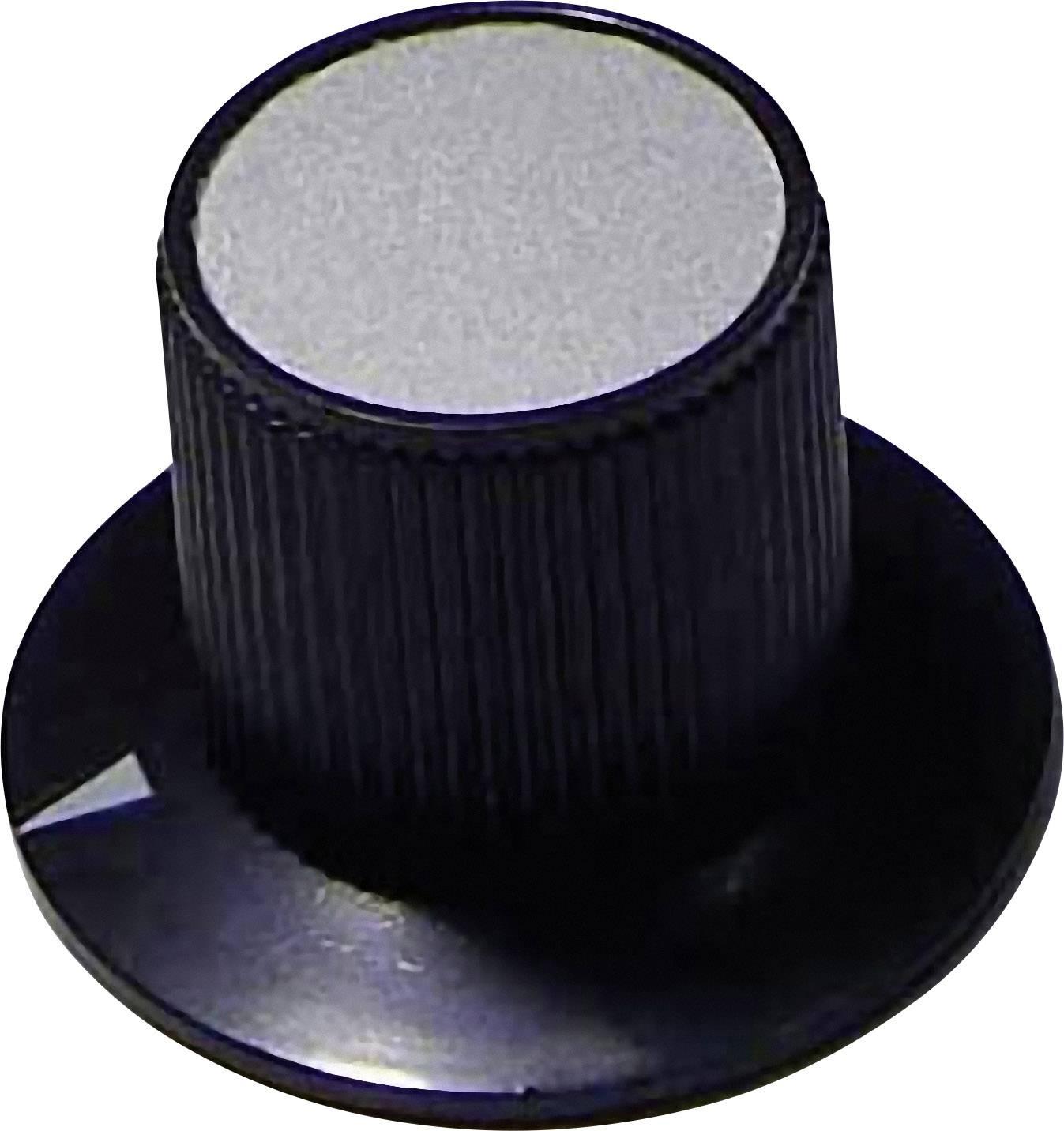 Otočný gombík 702498, (Ø x v) 29 mm x 20 mm, čierna, 1 ks