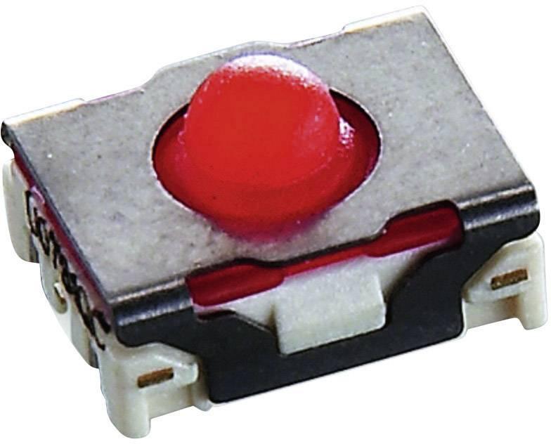 Tlačidlo RAFI MICON 5, 42 V/DC, 0.1 A, čierna, červená, 1 ks