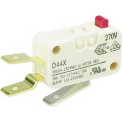 Mikrospínač Cherry Sw. D449-V3AA, 250 V/AC, 10 A, 1x zap/(zap)