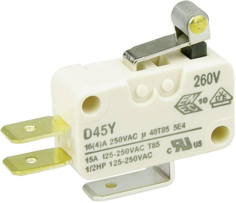 Mikrospínač - páka s valčekom Cherry Switches D453-V1RA, 250 V/AC, 16 A