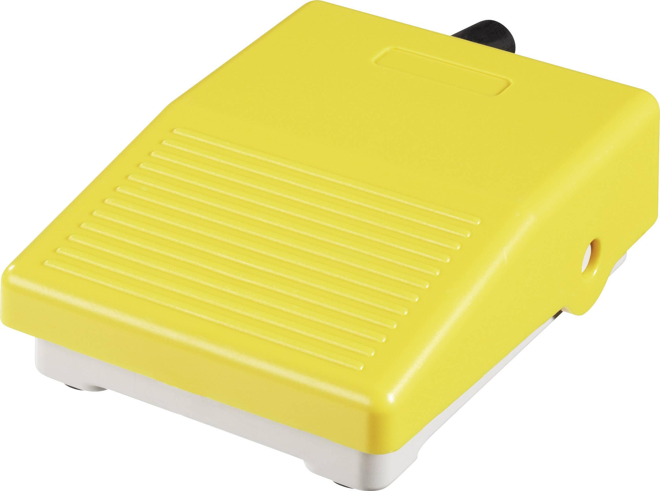Nožní spínač ABB IPM2Y (1SBV001105R1823), 3 A, IP40, plast, PG16, žlutá