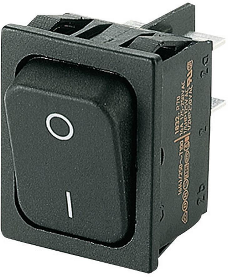 Kolébkový spínač s aretací Marquardt 1832.3312, 250 V/AC, 20 A, 2x vyp/zap, IP40, 1 ks