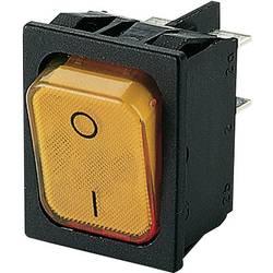 Kolébkový spínač s aretací Marquardt 1835.3114, 250 V/AC, 20 A, 2x vyp/zap, IP40, 1 ks
