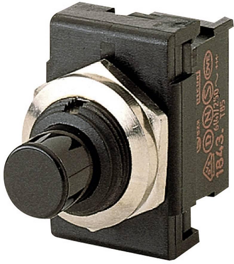 Tlačidlo Marquardt 1843.1201, 250 V/AC, 6 A, čierna, 1 ks