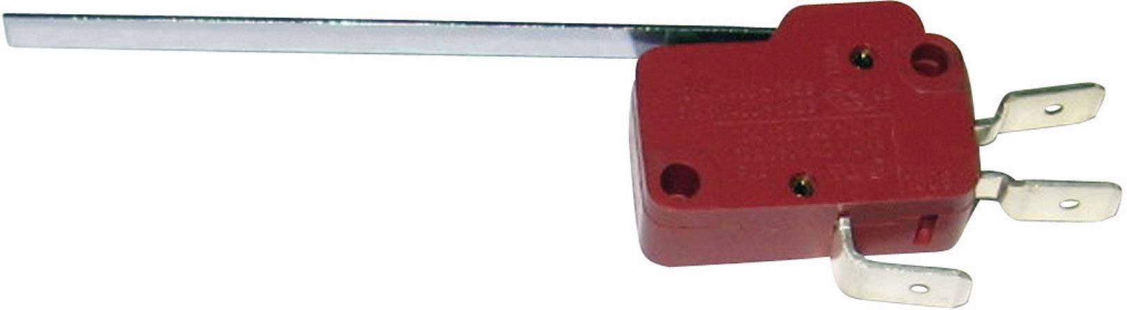 Mikrospínač - rovná kovová páka Marquardt 1006.1301, 250 V/AC, 10 A