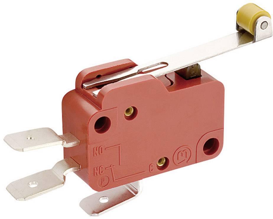 Mikrospínač - páka s valčekom Marquardt 1006.0701, 250 V/AC, 10 A
