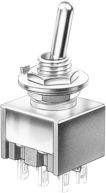 Miniatúrny pákový spínač Marquardt 9040.0201, 30 V/DC, 4 A, 1 ks