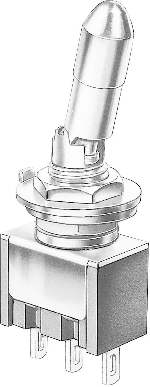 Miniatúrny pákový spínač Marquardt 9047.0102, 30 V/DC, 4 A, 1 ks