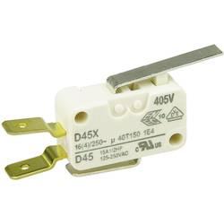 Mikrospínač s páčkou Cherry Sw. D45U-V3LD, 250 V/AC, 16 A, 1x zap/(zap)