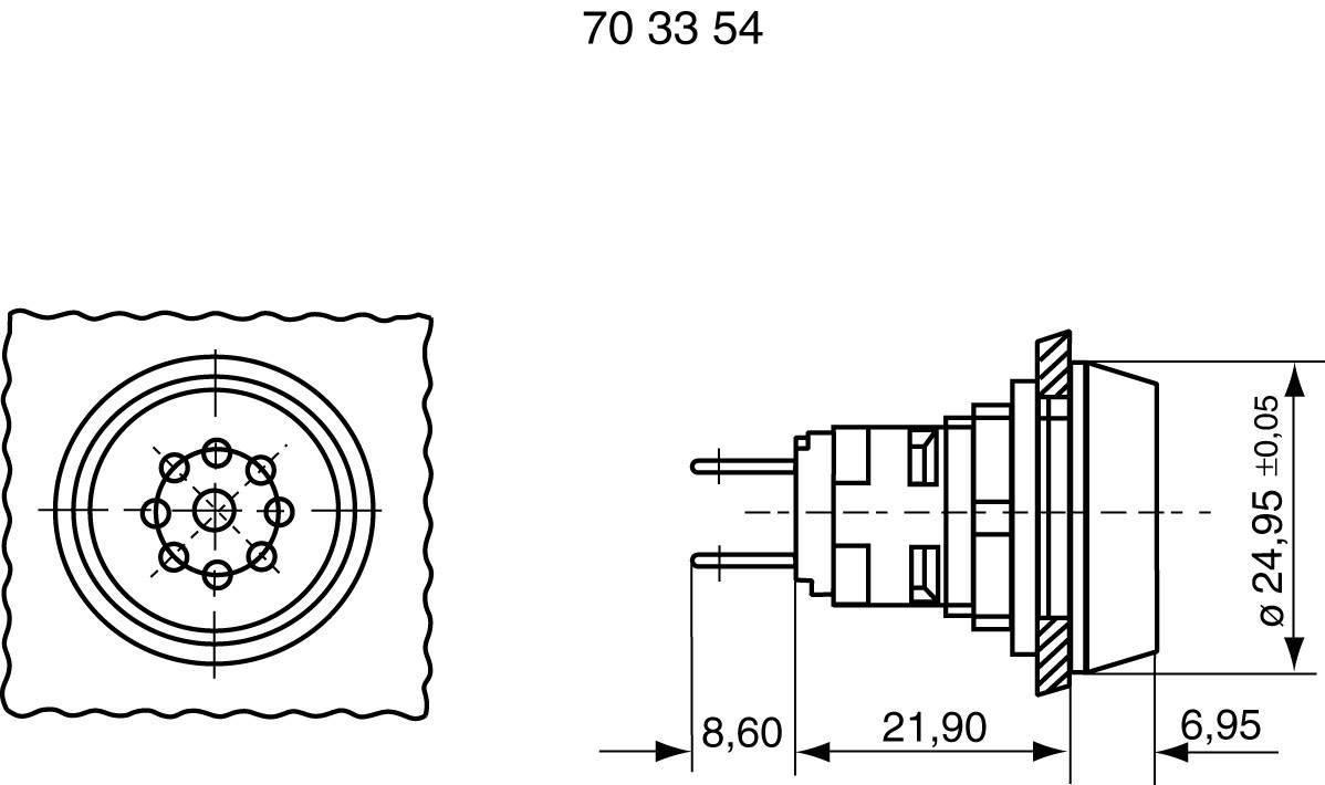 Sirénka, 70 dB 24 V / DC, 1.30 .078.021/0100