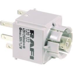 Spínací kontaktní prvek RAFI 1.20.123.025/0000, 2 spínací kontakty, bez aretace, 250 V, 20 ks