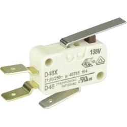 Mikrospínač s páčkou Cherry Sw. D489-V3LD, 250 V/AC, 21 A, 1x zap/(zap)