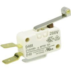 Mikrospínač s rolnou Cherry Sw. D489-V3RD, 250 V/AC, 21 A, 1x zap/(zap)