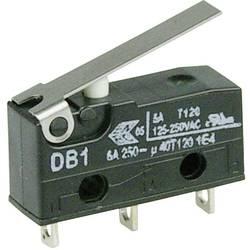 Mikrospínač s páčkou Cherry Sw. DB1C-A1LB, 250 V/AC, 6 A, pájené, 1x zap/(zap)