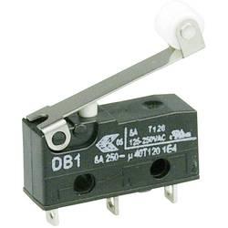 Mikrospínač s rolnou Cherry Sw. DB1C-A1RC, 250 V/AC, 6 A, pájené, 1x zap/(zap)